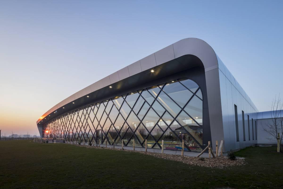 panneau composite aluminium panneau alu composite Centre aquatique à Estaires TIM Composites