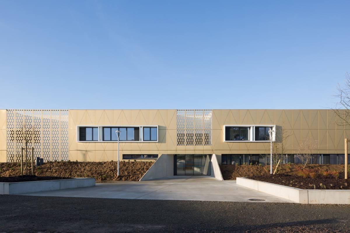 Collège Mauboussin à Mamers panneaux composites TIM Composites