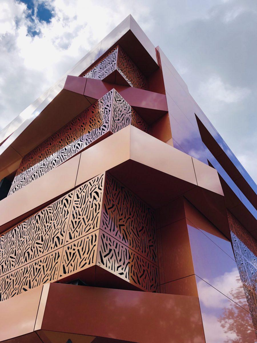 panneau composite aluminium panneau alu composite Lycée les Vaseix TIM Composites