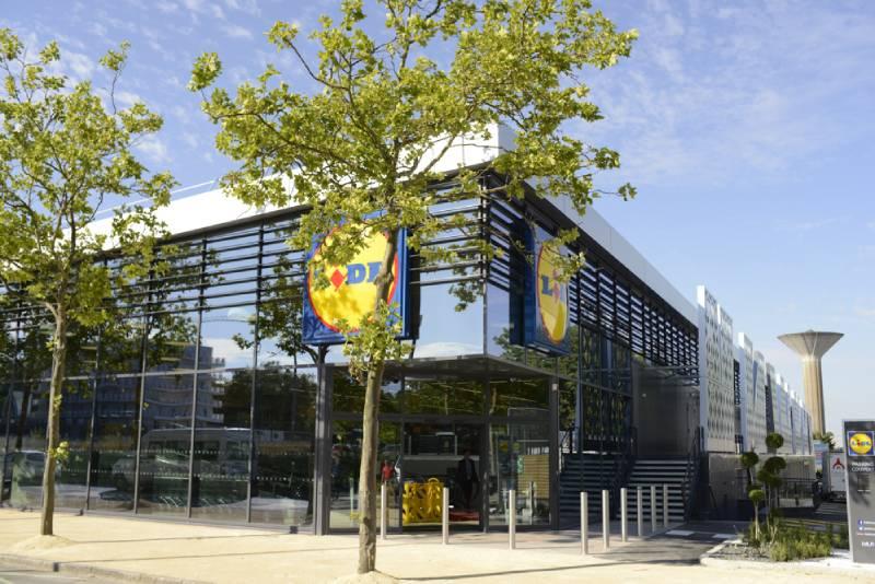 LIDL de Nantes Beaujoire panneaux composites TIM Composites