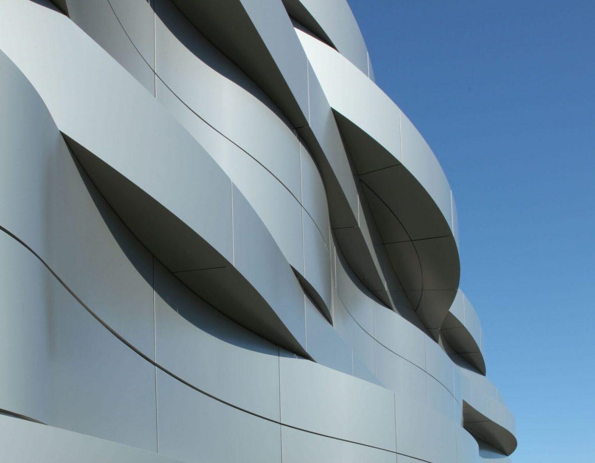 panneau composite aluminium panneau alu composite Centre commercial Saint Bonnet de Mure panneaux composites TIM Composites