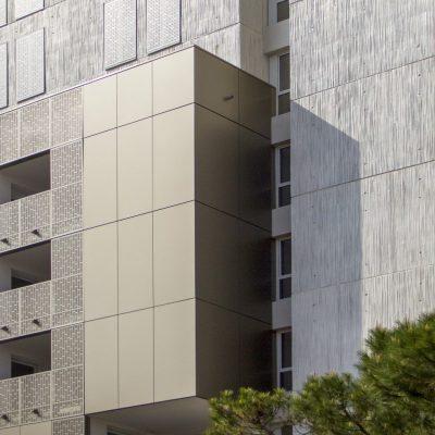Ilot Robini Nice Mérida panneau composite aluminium aluminium composite TIM Composites